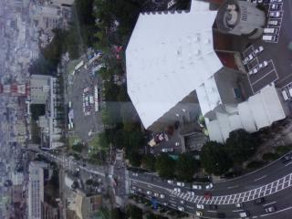 音楽センターの屋根って こんな感じなんだぁ