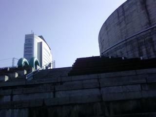 こんな角度で市役所が見えました