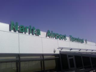 ランチは成田空港です